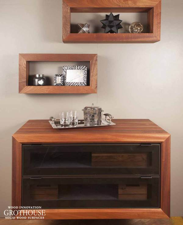 Countertop Wood Coffee Station