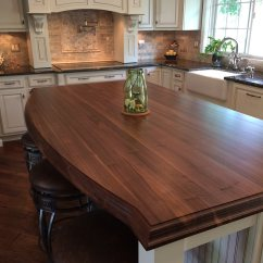 Kitchen Island Top Ventilation System Custom Walnut Countertop In Columbia Maryland Grothouse