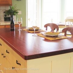 Distressed Kitchen Island Butcher Block Country Decorations Brazilian Cherry Wood Counter On In Gilroy California
