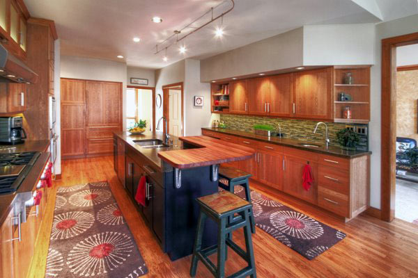kitchen countertop options and bathroom remodeling brazilian cherry wood raised bar in pennsylvania