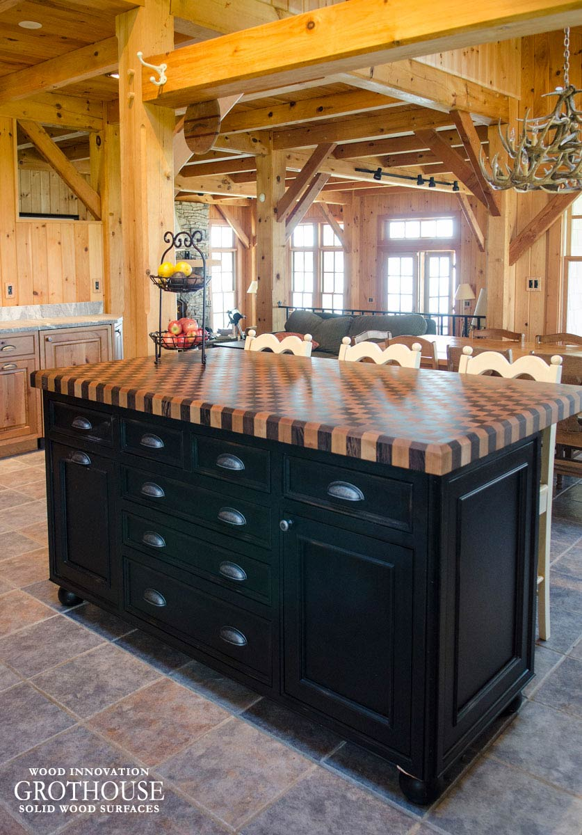 cherry wood kitchen island outdoor with green egg wenge checkerboard butcher block in aurora, ny