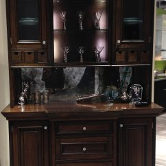 Overmount Kitchen Sink Slate Faucet Stained Cherry Countertop In Elkay Booth At Kbis Vegas 2014