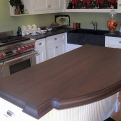 Kitchen Trash Kohler Sinks Porcelain Cherry Wood Countertop For A Island In Greenwich, Ct