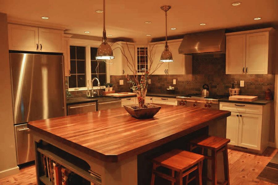 Custom Mahogany Wood Kitchen Countertop In Blue Bell Pa