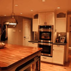 Overmount Kitchen Sink Brown Custom Mahogany Wood Countertop In Blue Bell, Pa