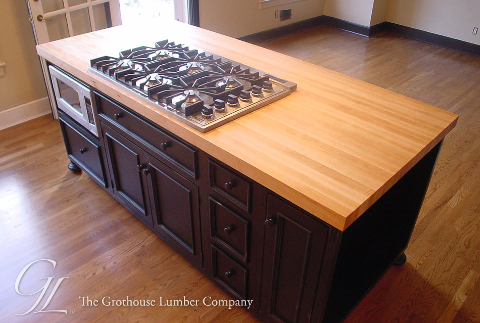 Custom Hard Maple Wood Countertop Princeton New Jersey