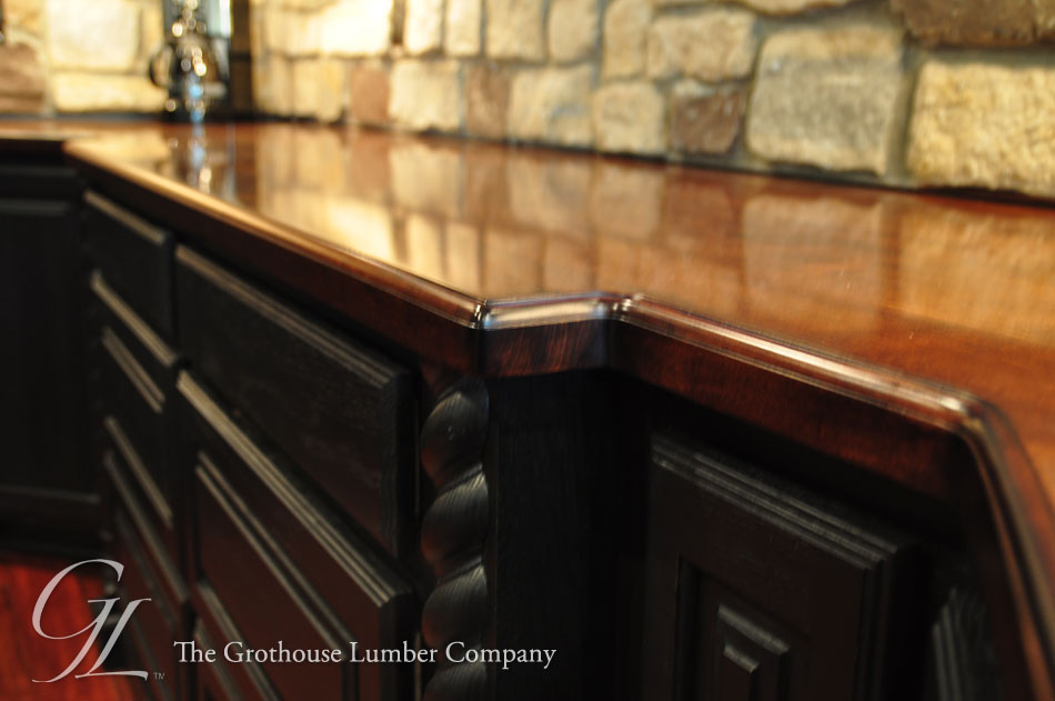 distressed kitchen island butcher block cabinet drawer pulls maple wood bar top in churchville, maryland by grothouse
