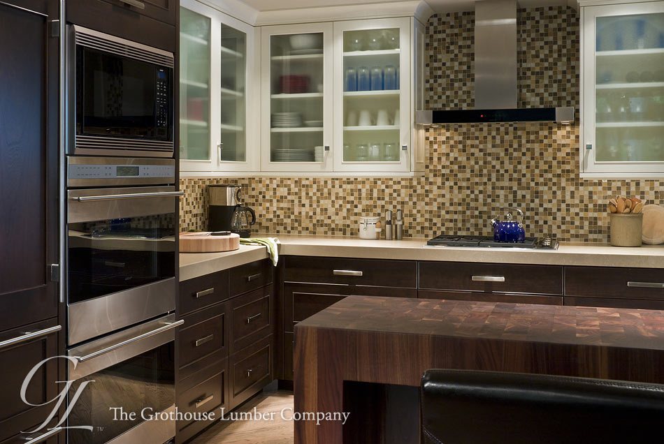 online kitchen design wall panels walnut butcher block pastore™ waterfall countertop in il