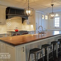 Kitchen Island Counter Industrial Cleaning Services Distressed Walnut In Twinsburg Oh Custom
