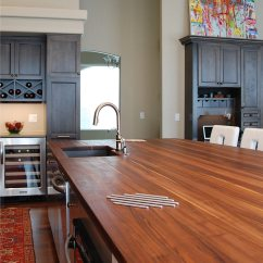 Distressed Kitchen Island Butcher Block Furniture Ikea Walnut Wood Countertop In North Dakota