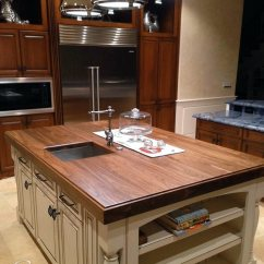 Wood Kitchen Counters Ikea Cabinet Handles Walnut Counter For Island In Florida Countertop