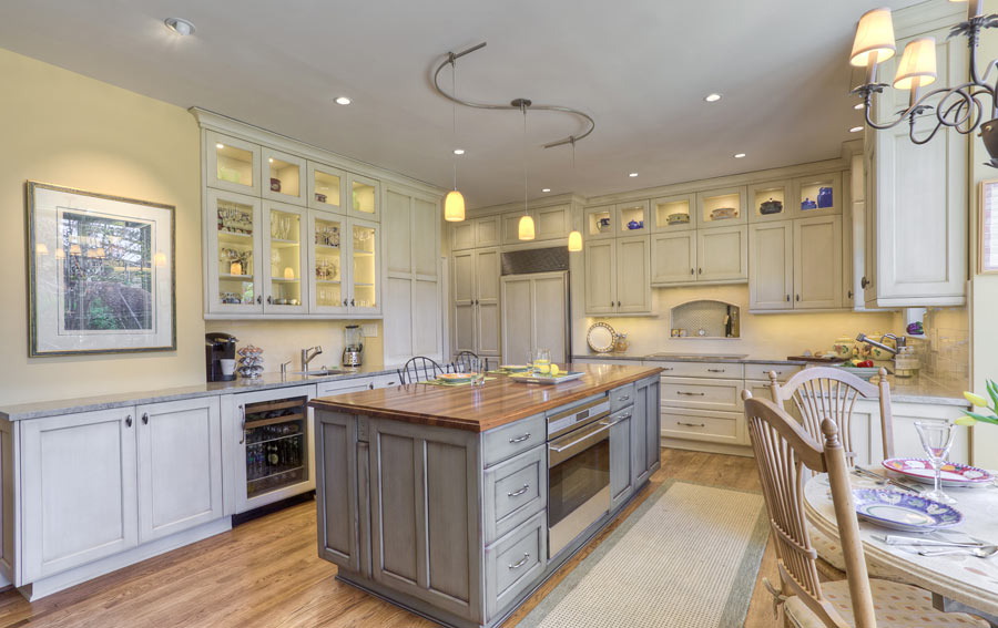 wood kitchen counters cabinets design layout custom walnut countertop in bethesda maryland for a island md