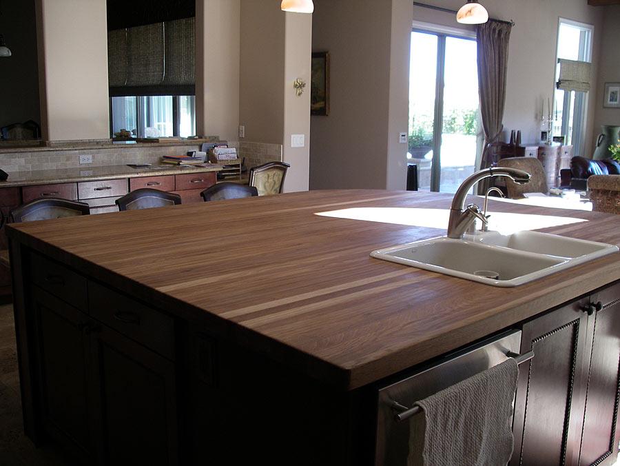 overmount kitchen sink food scale white oak wood countertop in las vegas, nevada