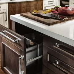 Kitchen Trash Can Dimensions Online Designer Wood Countertops With Holes By Grothouse