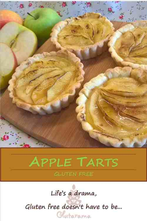 Gluten Free Apple Tarts: made with creme patissiere, perfect for afternoon tea