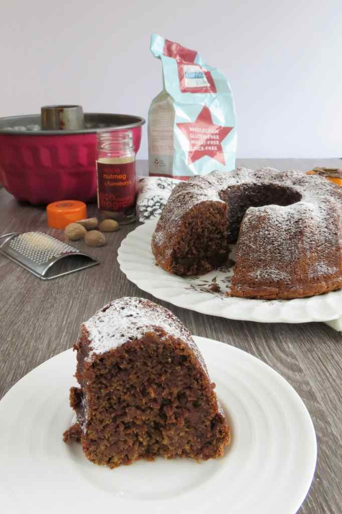 Persimmon Cake (Sharon Fruit) vegan, gluten free and dairy free