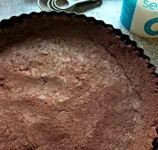 Salted Chocolate Tart Udis Cookies Base