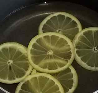 Candied Lemon Slices for Gluten Free Cheesecake