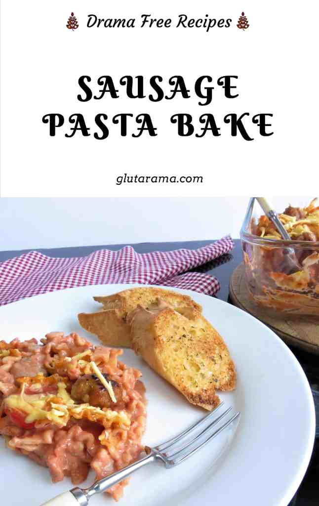 Sausage Pasta Bake; gluten free and dairy free, simple to make with few ingredients, perfect for the whole family