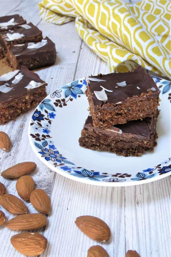Raw Chocolate Squares; made with pumpkin seed protein