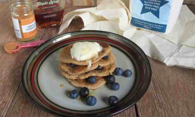 Apple & Cinnamon Pancakes #FreeFromPancakes