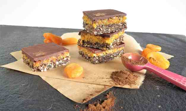 Apricot Cacao Raw Squares (gluten, dairy, egg free)