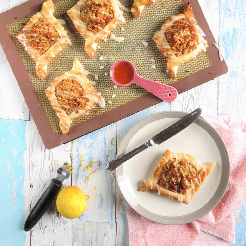 Danish Treacle Tart Pastries; gluten free and vegan too