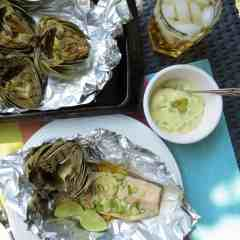 BBQ Trout with Grilled Artichoke 4