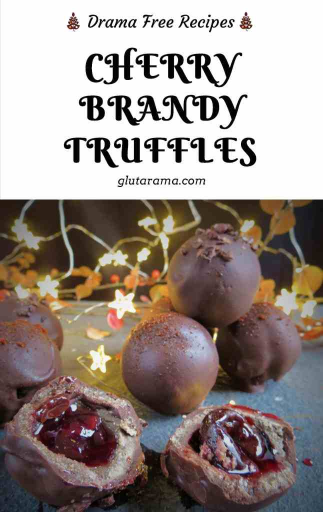 Cherry Brandy Truffles; the perfect chocolate treat or make as a gift for a special occasion, these are gluten free, dairy free, vegan and oh so delicious #glutenfree #dairyfree #vegan #chocolate #truffles #valentinesgift #christmasgiftidea #freefromgang