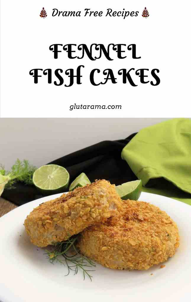 Fennel Fish Cakes made with no potato and a gluten free crumb. #glutenfree #dairyfree #freefrom #freefromgang #fishcake #potatofree