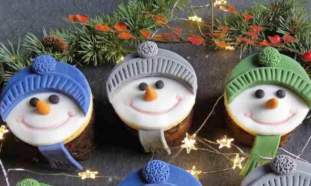 Mini Christmas Cakes; gluten free with nut free marzipan