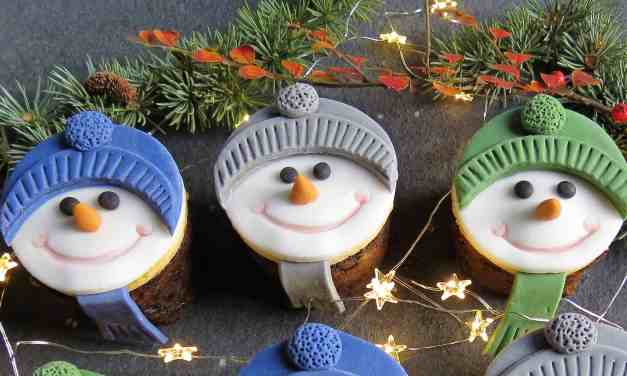 Mini Christmas Cakes; gluten free with nut free marzipan