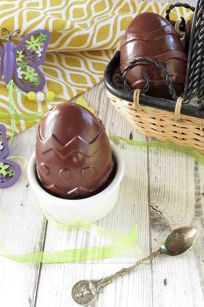 Vegan Creme Egg, homemade and supersized