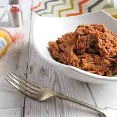 BBQ Pulled Pork; simple to make using a slow cooker; #glutenfree #diaryfree #nutfree #soyafree #eggfree #familydinners #BBQ #pulledpork
