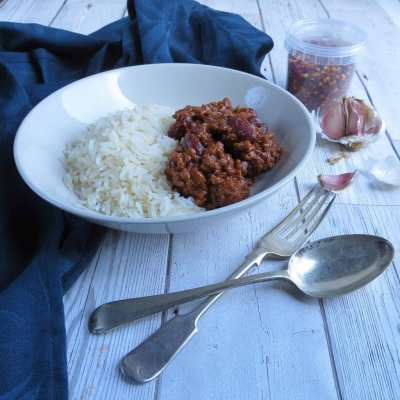Baby Cubes in Chilli Con Carne - gluten free, dairy free, hidden vegetables