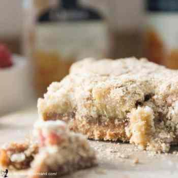 Rhubarb Ginger Crumble Bars Gluten Free