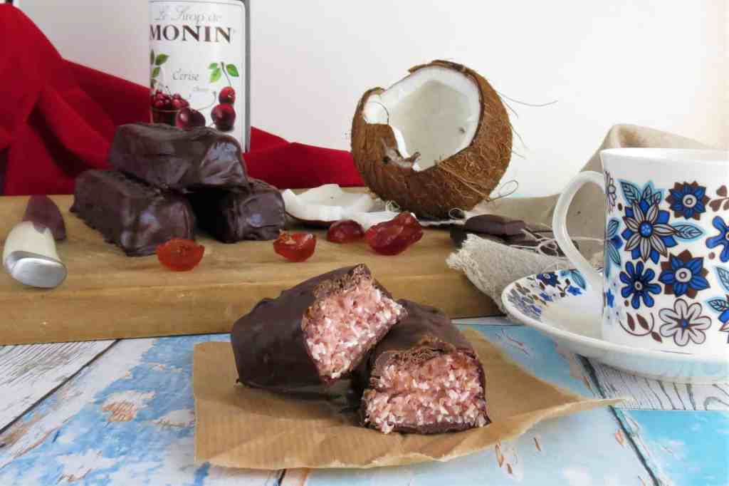 Cherry Ripe Bar (gluten and dairy free) just like the Cadbury's Cherry Bliss Bar