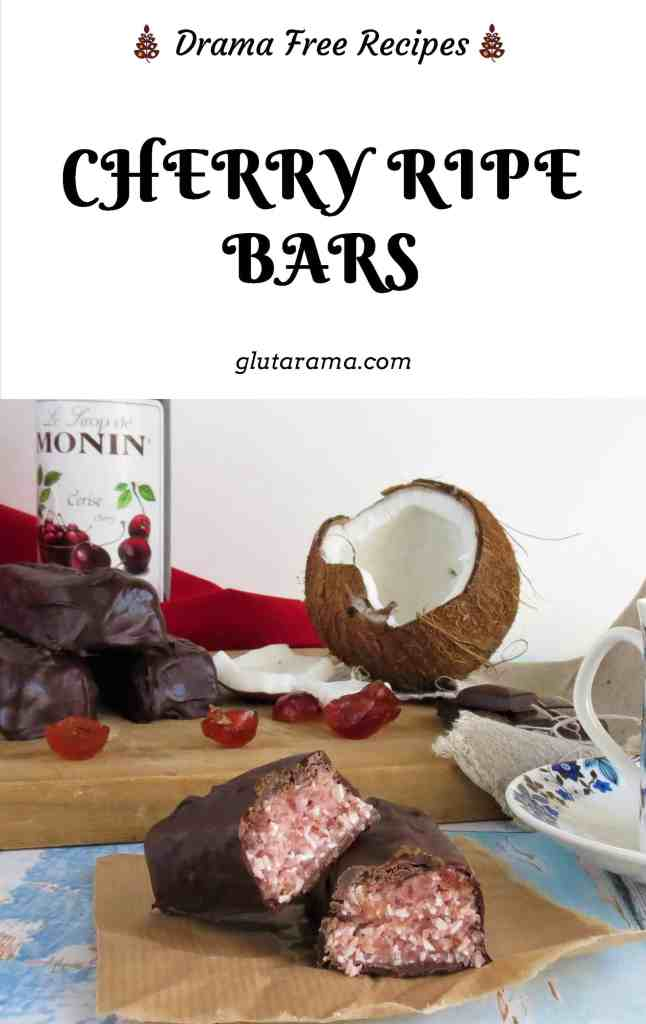 Cherry Ripe Bar (gluten and dairy free) just like the Cadbury's Cherry Bliss Bar #cherryripe #chocolate #coconut #vegan #dairyfree #glutenfree sweettreat #kidsrecipes