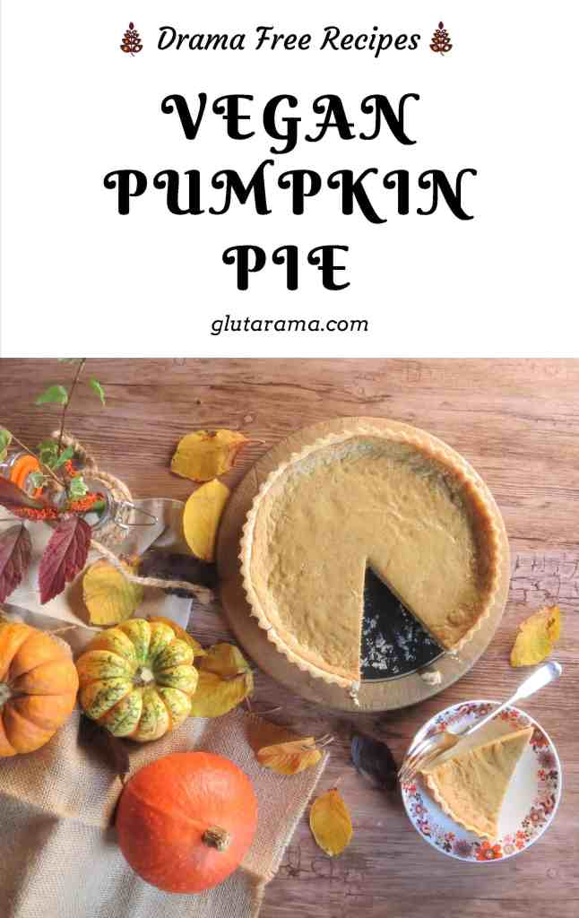 Vegan Pumpkin Pie; a favourite dessert in our family, this had to be made egg and dairy free so that I didn't miss out, the family can't tell the different #glutenfree #dairyfree #eggfree #vegan #Halloween