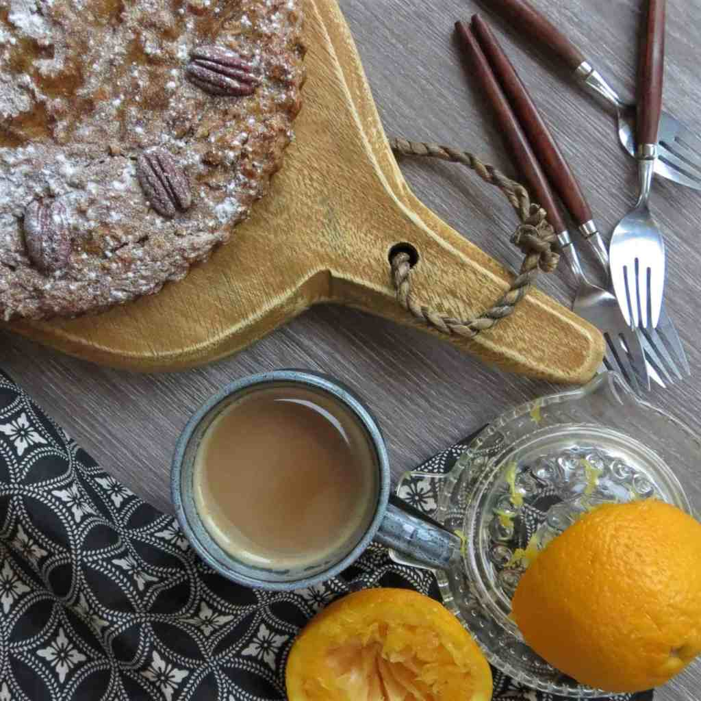 Roast Orange and Pecan Cake