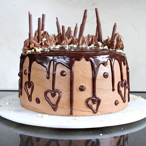 Banana-Chocolate Celebration Cake