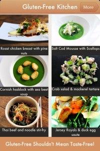 screenshot from the Gluten Free Recipes App