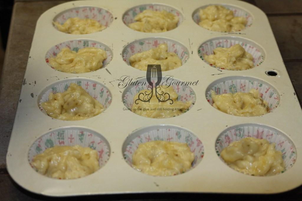 Ready to bake banana praline muffins