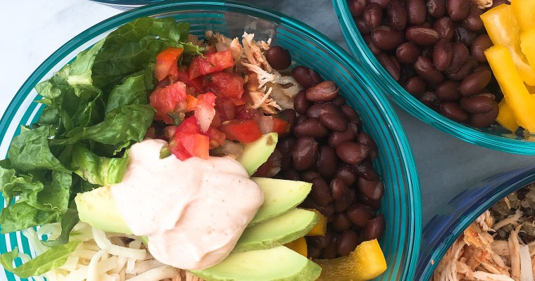 Gluten Free Meal Prep- Mexican Fiesta Bowls
