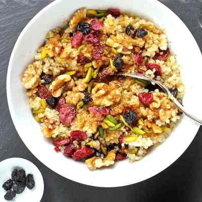 Quinoa Breakfast Bowl – Quick, Simple & Delicious Vegan Breakfast