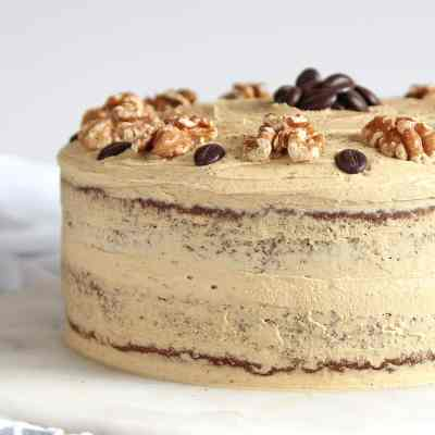 Coffee and Walnut Cake – Gluten Free (and PERFECT)