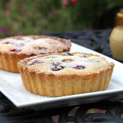 Cherry Frangipane Tart – with (optional) Gluten Free Almond Pastry