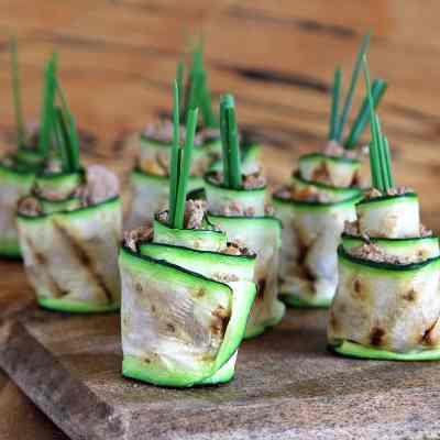 Zucchini Roll Ups (Courgette) – or Easy Zucchini Sushi