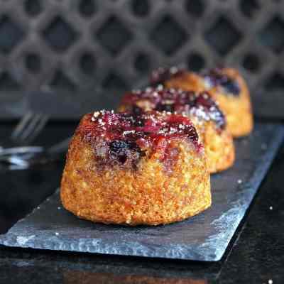 Cherry Upside Down Cake with gluten free sponge