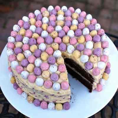 Easter Mocha Cake with Mini Eggs – Gluten Free